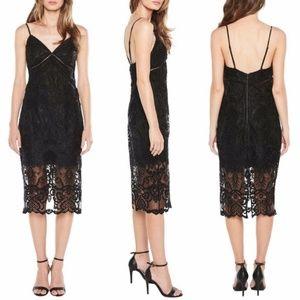 Bardot Black Eyelet Lace Dress